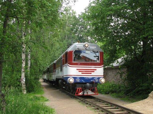 Детская железная дорога в Шувалово