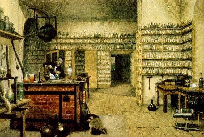 Фарадей в лаборатории