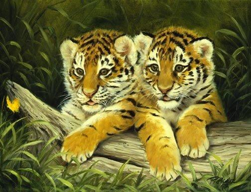 """Предпросмотр схемы вышивки  """"тигрята """" ."""