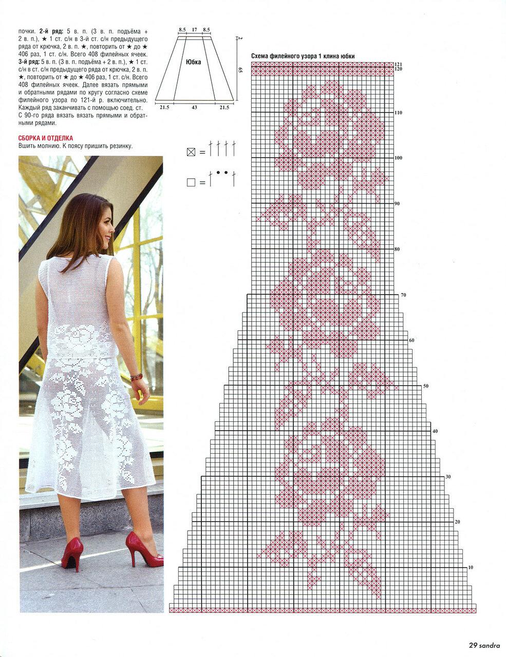 Вязание крючком летние юбки филейным узором