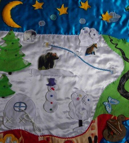 Детский развивающий коврик Семьландия... игровая зона Зима
