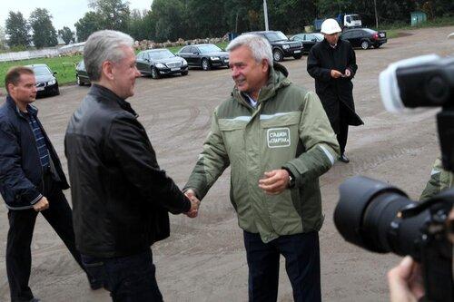 Федун, Алекперов, Собянин на спартаковском стадионе
