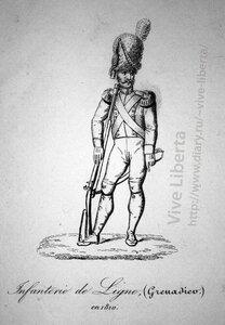 гренадер линейной пехоты 1810
