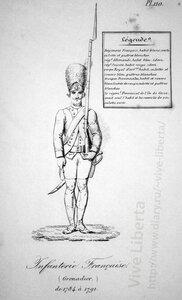 пехотный гренадер  1784-1791