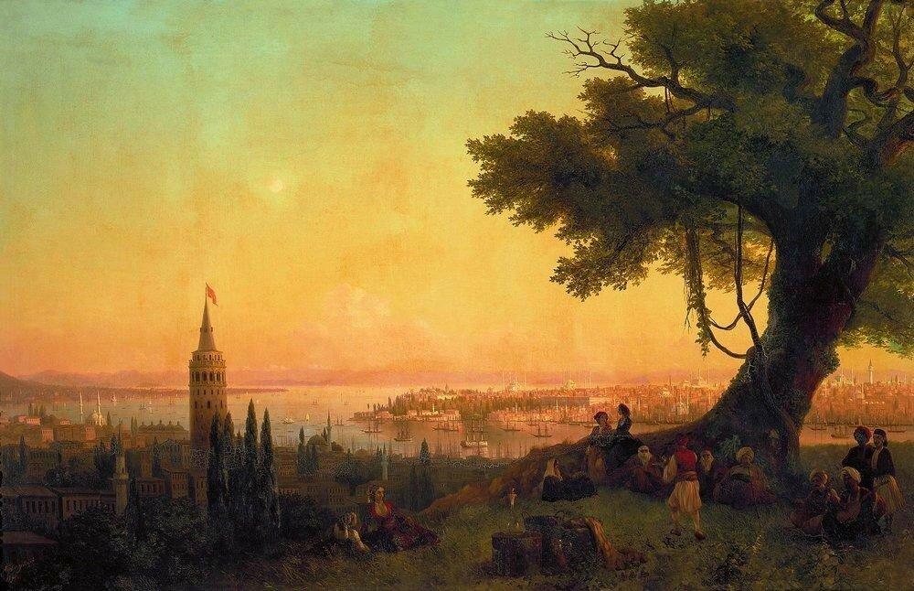 Вид Константинополя при вечернем освещении. 1846.jpg