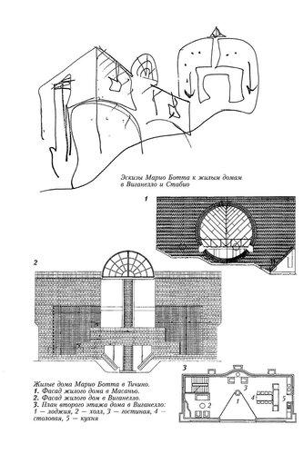 Чертежи  жилых домов архитектора Марио Ботта
