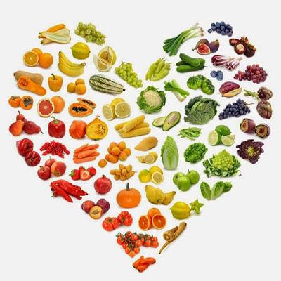 Сердечко из продуктов для вегетарианцев