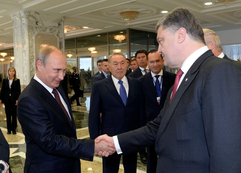 Путин и Вальцман в Минске