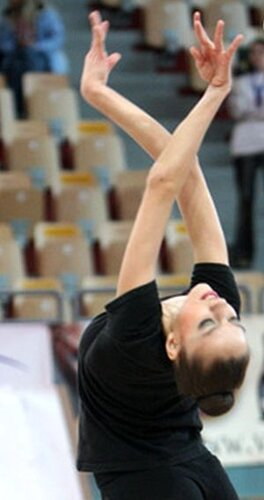 Евгения Канаева на тренировке