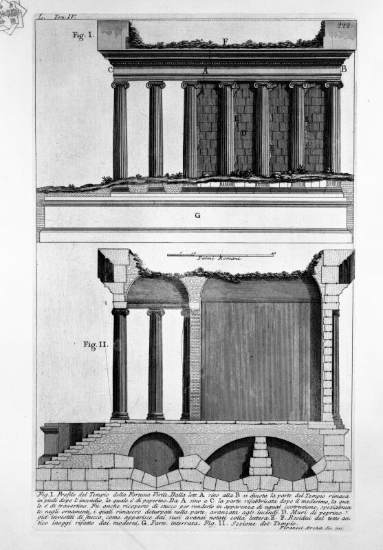 Пиранези. Храм Фортуны Вирилис