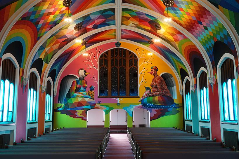 Церковь конопли в Денвере украшенная яркими рисунками (15 фото)