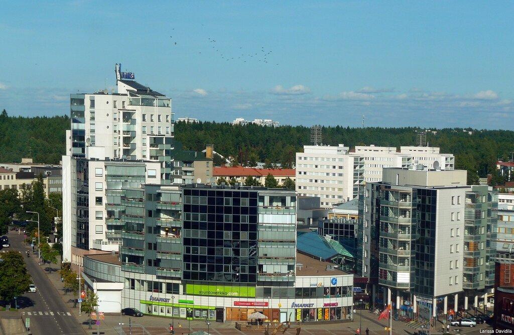 Вид на центр города.