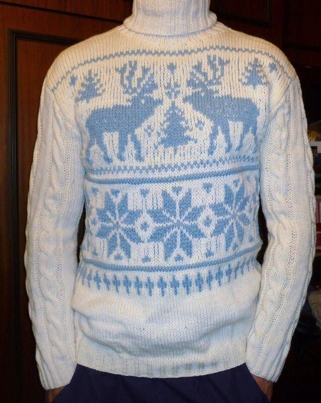 Скачать свитер с оленями 8