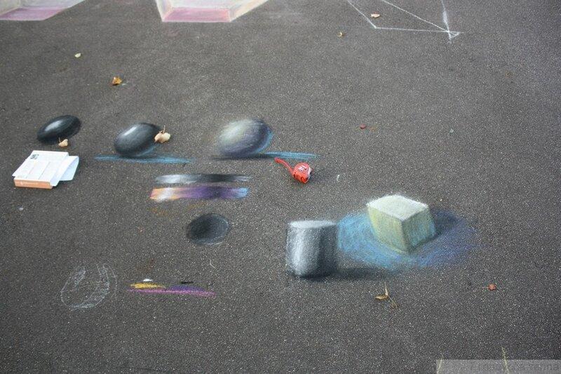 Рисунки мелками на асфальте