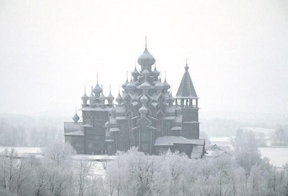 Кижи зимой