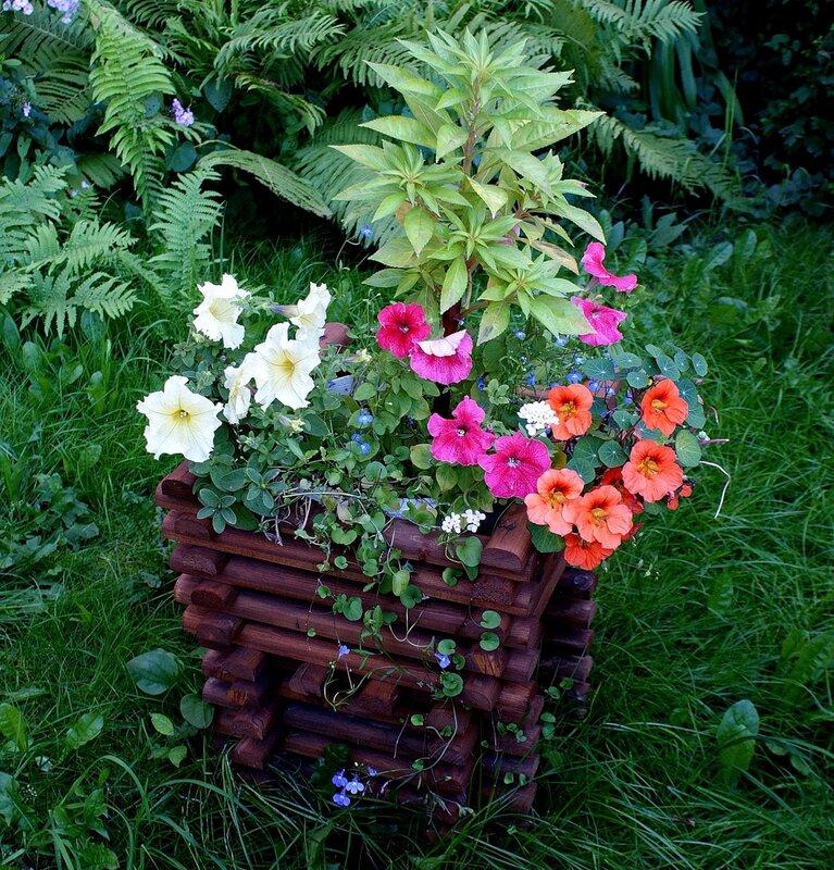 Колодец с цветами.