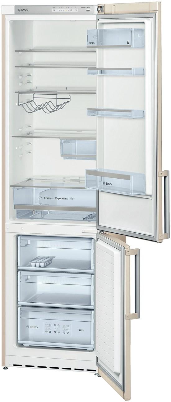 бежевый стандартный холодильник Бош бежевый