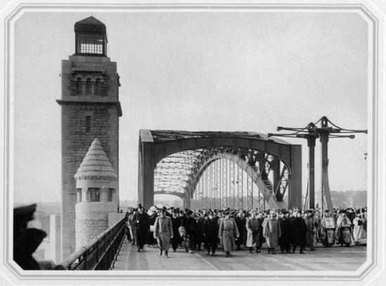 открытие моста императора Петра Великого, 1911 гогa