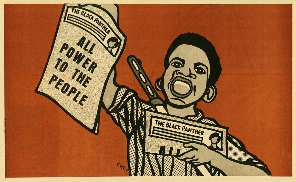 Художник Эмори Дуглас, как главный агитатор Художник Эмори Дуглас, как главный агитатор леворадикального движения американских Черных пантердвижения американских Черных пантер (1)