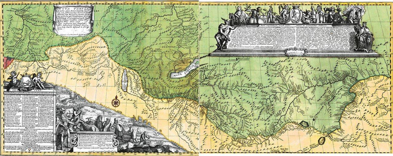 14-15. Ландкарта разграничения между Российской Империи Сибирскими землями и Китайского владения Монгольскими землями