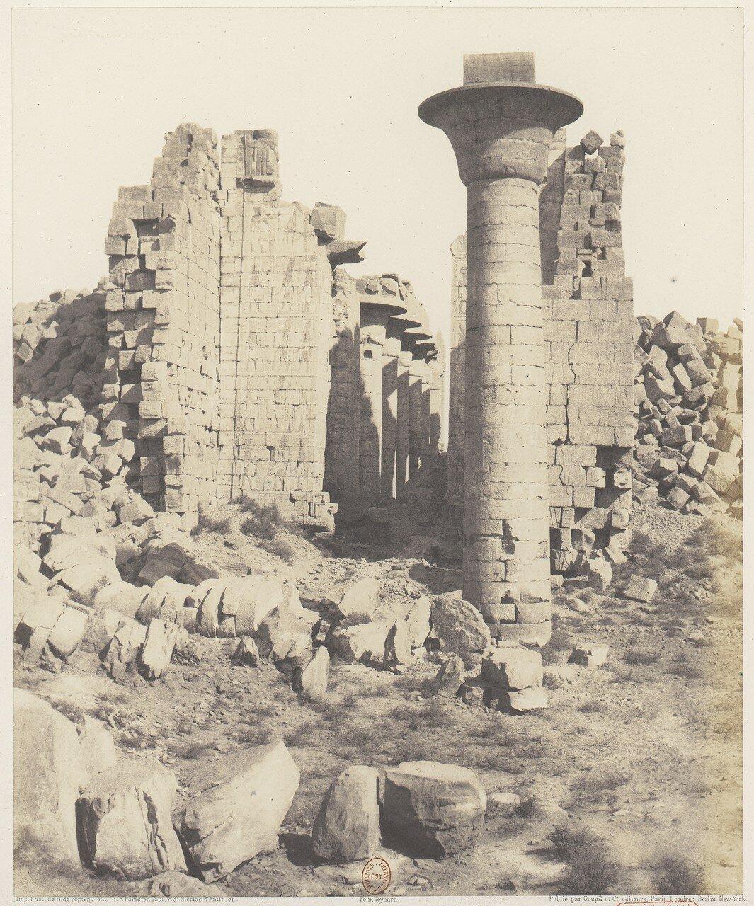 Карнак. Двор храма. Вид с точки «I»