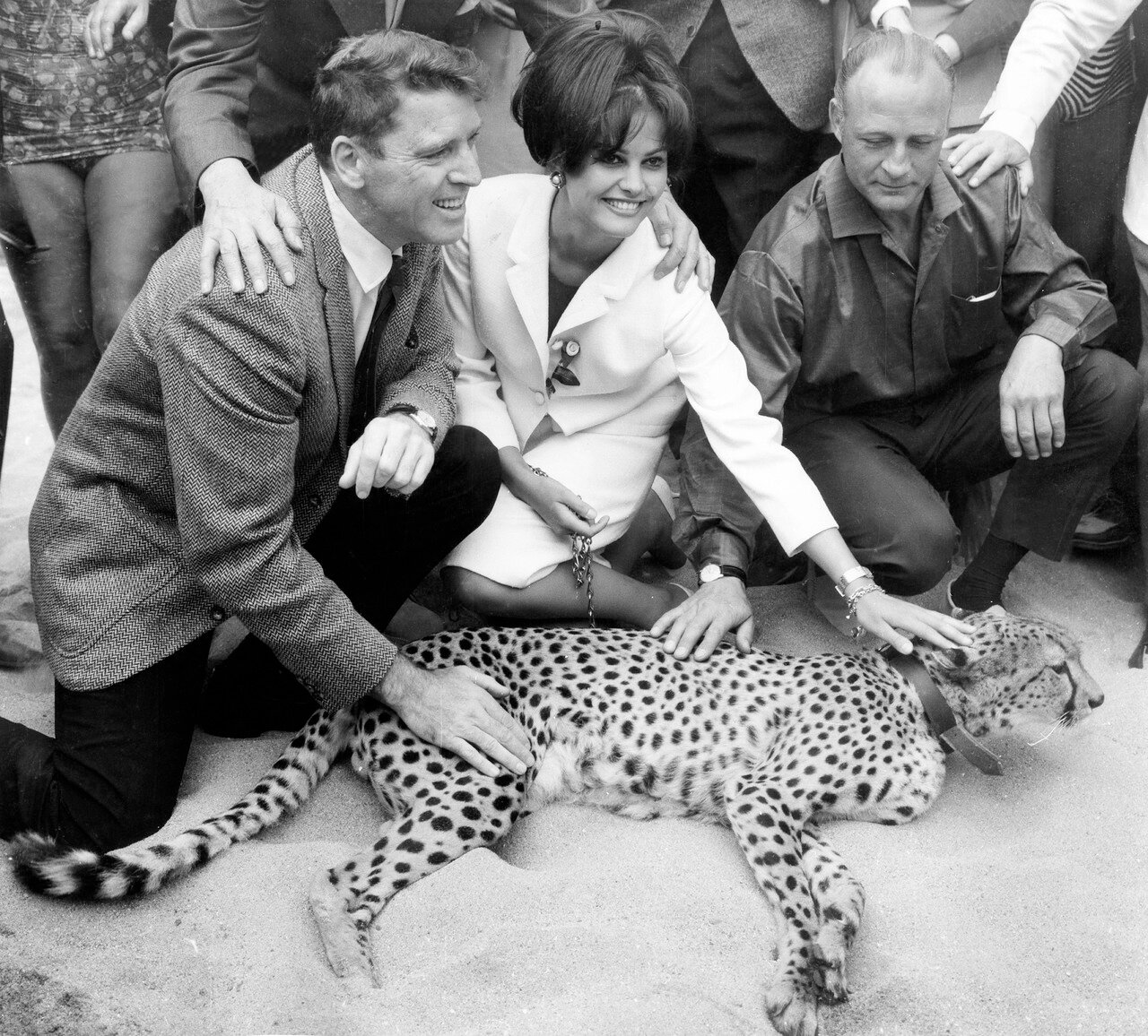 Claudia CARDINALE, Burt LANCASTER und Luchino VISCONTI, 1963