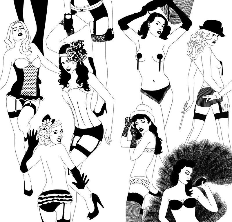 Рисунки на бумажных обоях от Dupenny