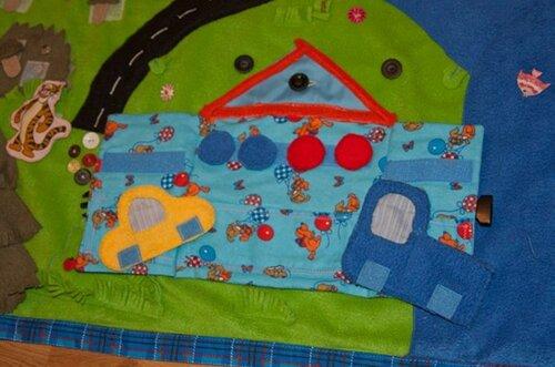 Развивающий коврик своими руками... гараж, транспорт, колеса