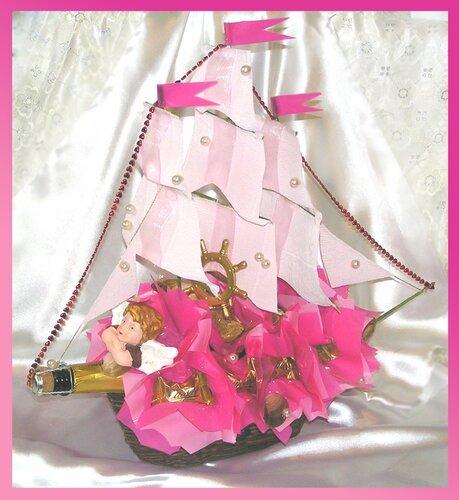 Корабль из конфет с шампанским пошаговое фото
