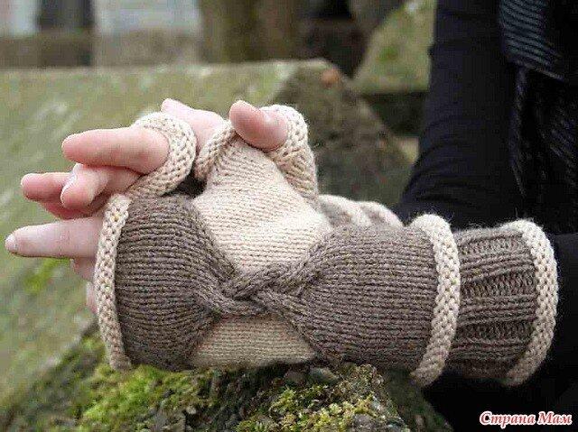 Митенки - идеи для вязания.