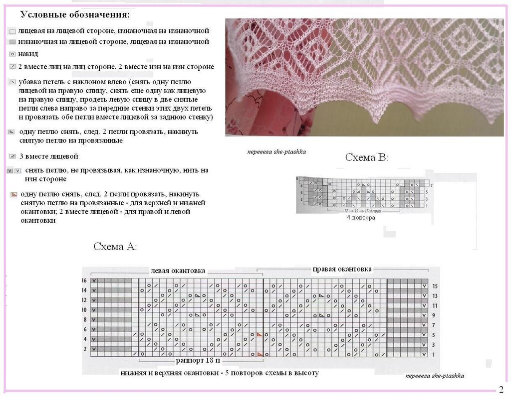 Вязание спицами ажурные палантины схемы и описания 66