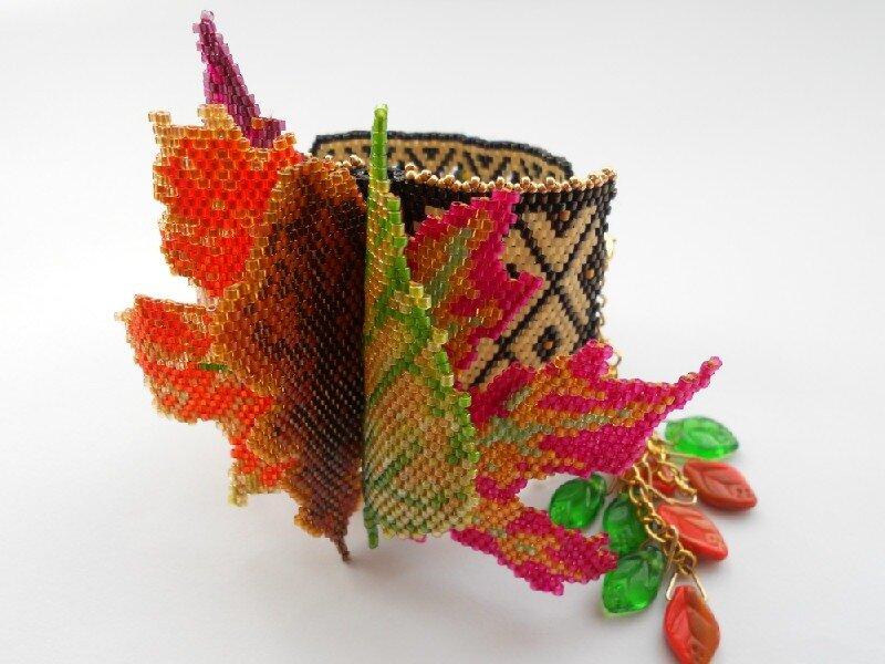 """№25. """" Книга"""" Осенний Гербарий"""" выполнен в технике мозаичное плетение."""