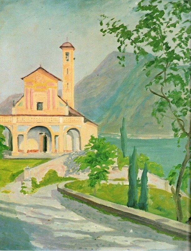 + 1945 Церковь на озере Комо.jpg