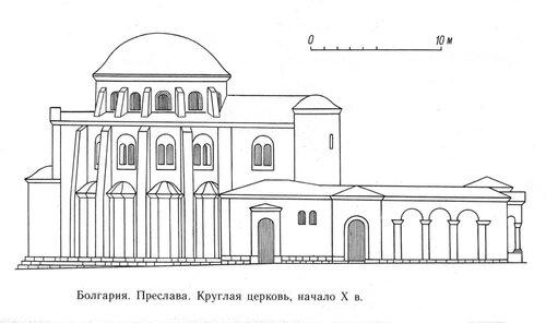 Храм в Преславе, фасад