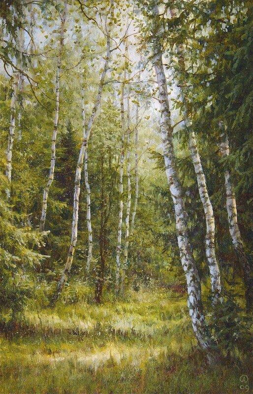 Олег Анастасов. Летний лес в Молзине