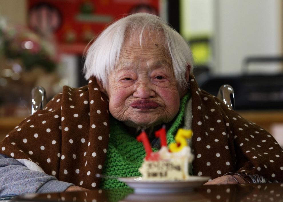Японская долгожительница отгуляла 115-е именины
