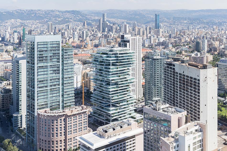 Слоеное жилое здание в Ливане от Herzog & de Meuron (9 фото)