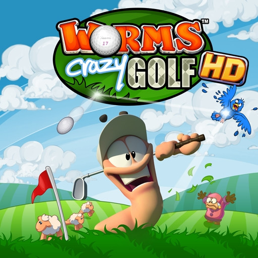 [HD] Worms Crazy Golf HD [v1.06, Аркада, iOS 3.2, ENG]