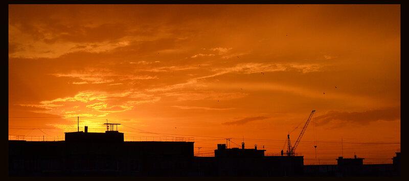 Городской закат.