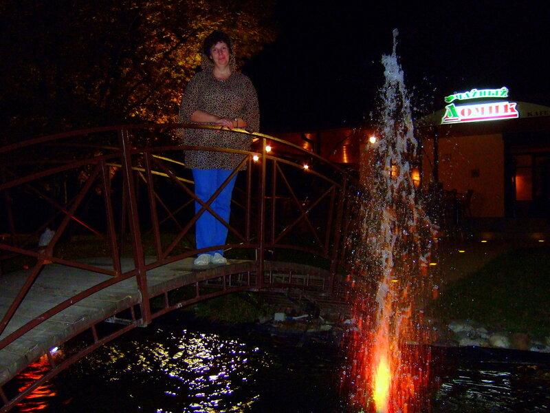 На мостике у фонтанов