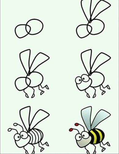 рисуем пчёлку
