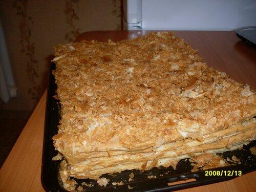 Слоёный торт сказка рецепт с фото