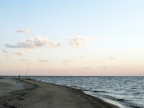 На Ачуевской косе, побережье Азовского моря, 4 августа 2011