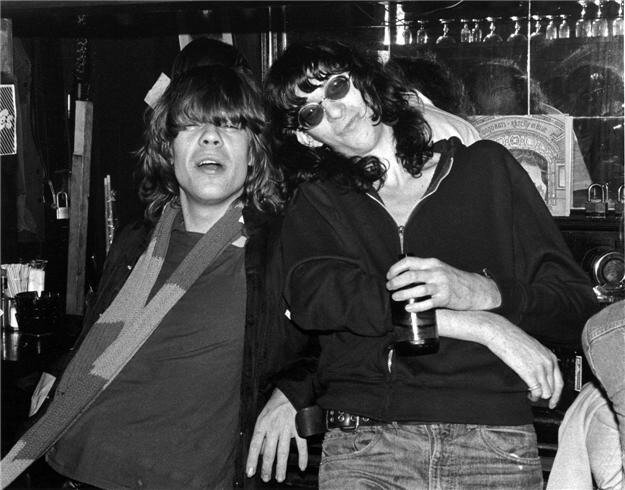 David Johansen & Joey Ramone, NYC, 1976