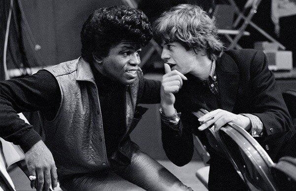 James Brown and Mick Jagger, 1964. Photo by Bob Bonis