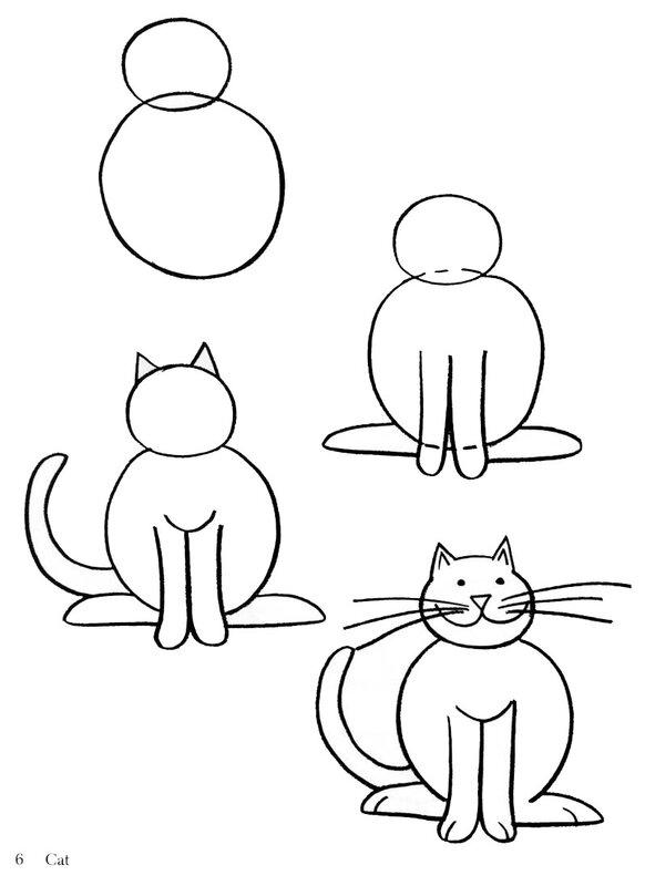 как рисовать животных-детям.