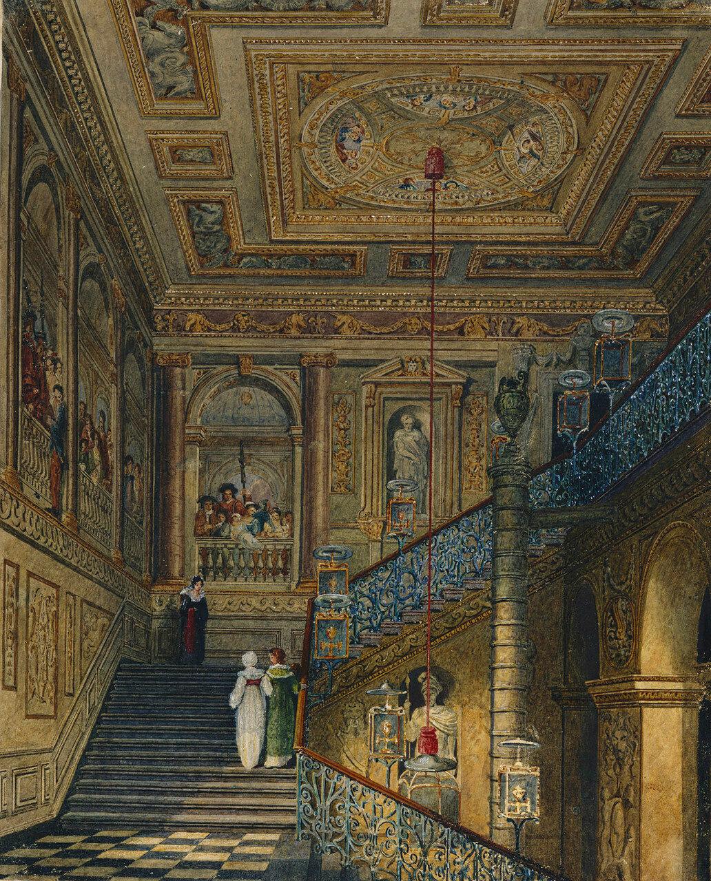 Кенсингтонский дворец: Великая Лестница  1819