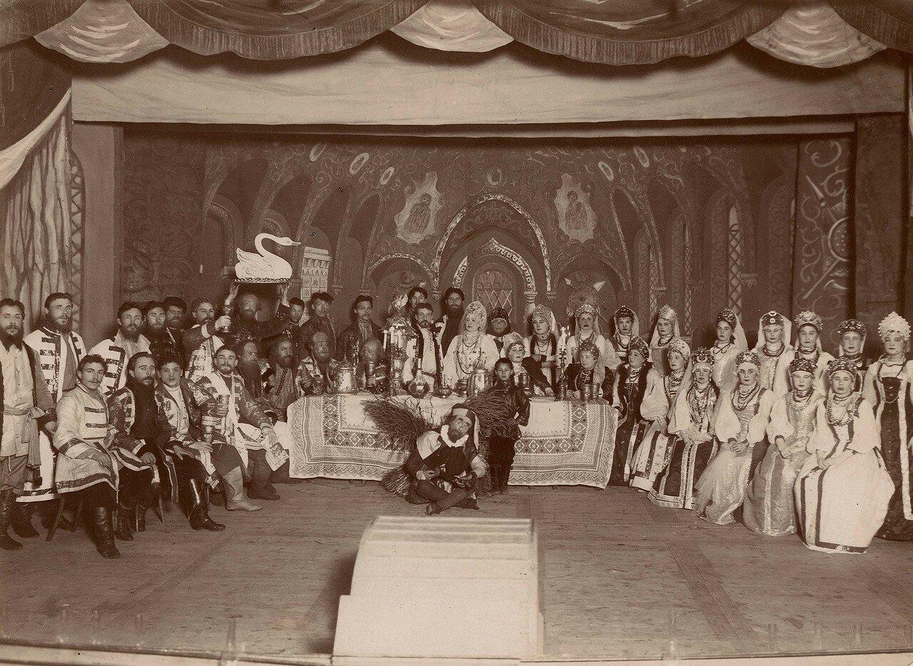 Участники постановки Русская свадьба, красноярские любители драматического искусства, 28 декабря 1895