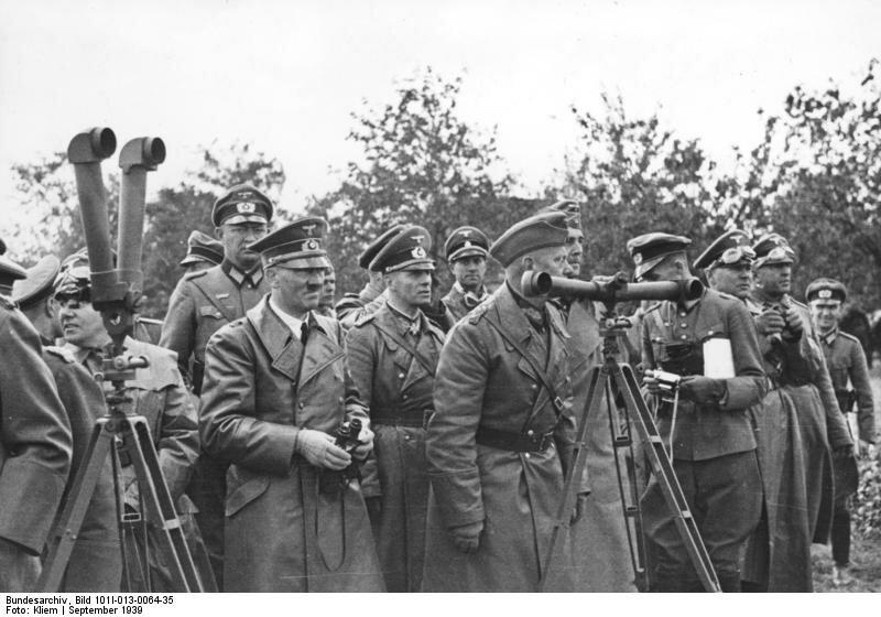 Polen, Bormann, Hitler, Rommel, v. Reichenau
