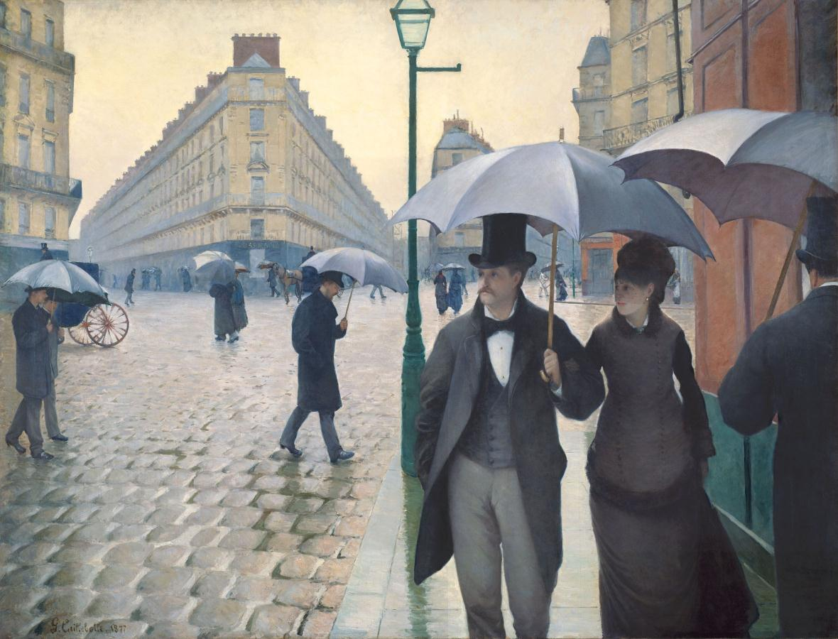Paris Street in Rainy Weather. 1877,Gustave Caillebotte (1848–1894) Art Institute of Chicago